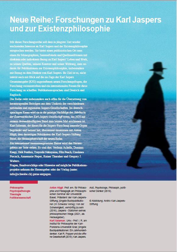 You are currently viewing Neue Reihe: Forschungen zu Karl Jaspers und zur Existenzphilosophie